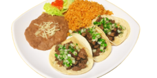 3 tacos plate